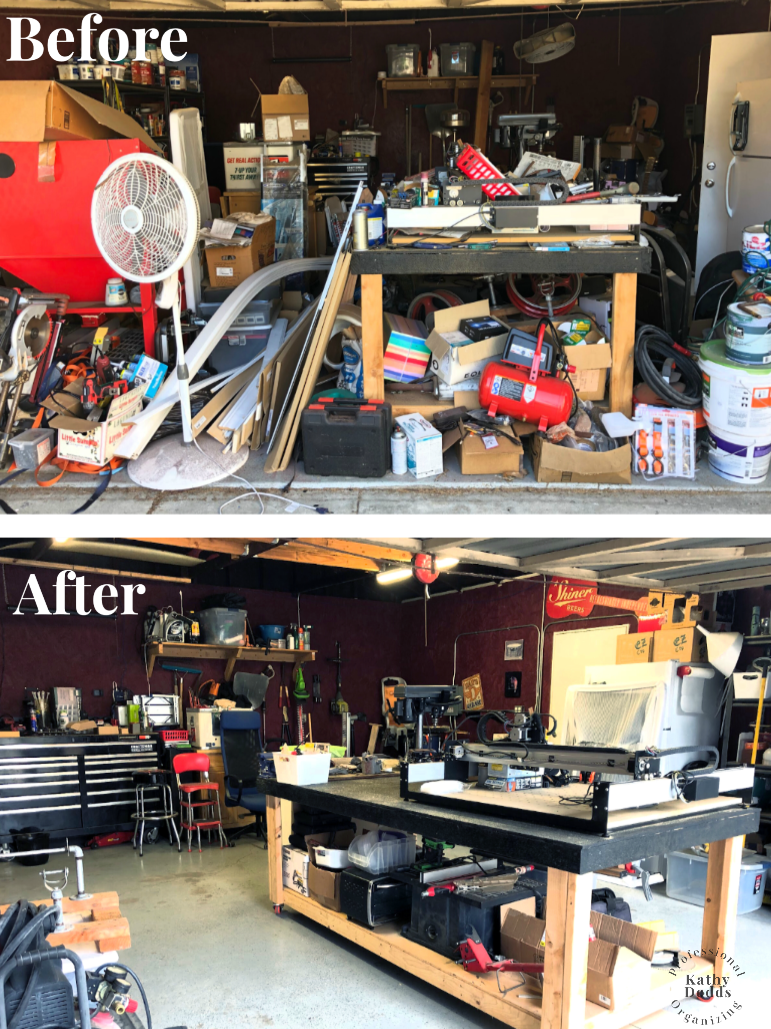 Garage Before & After, Professional Organizing By Kathy