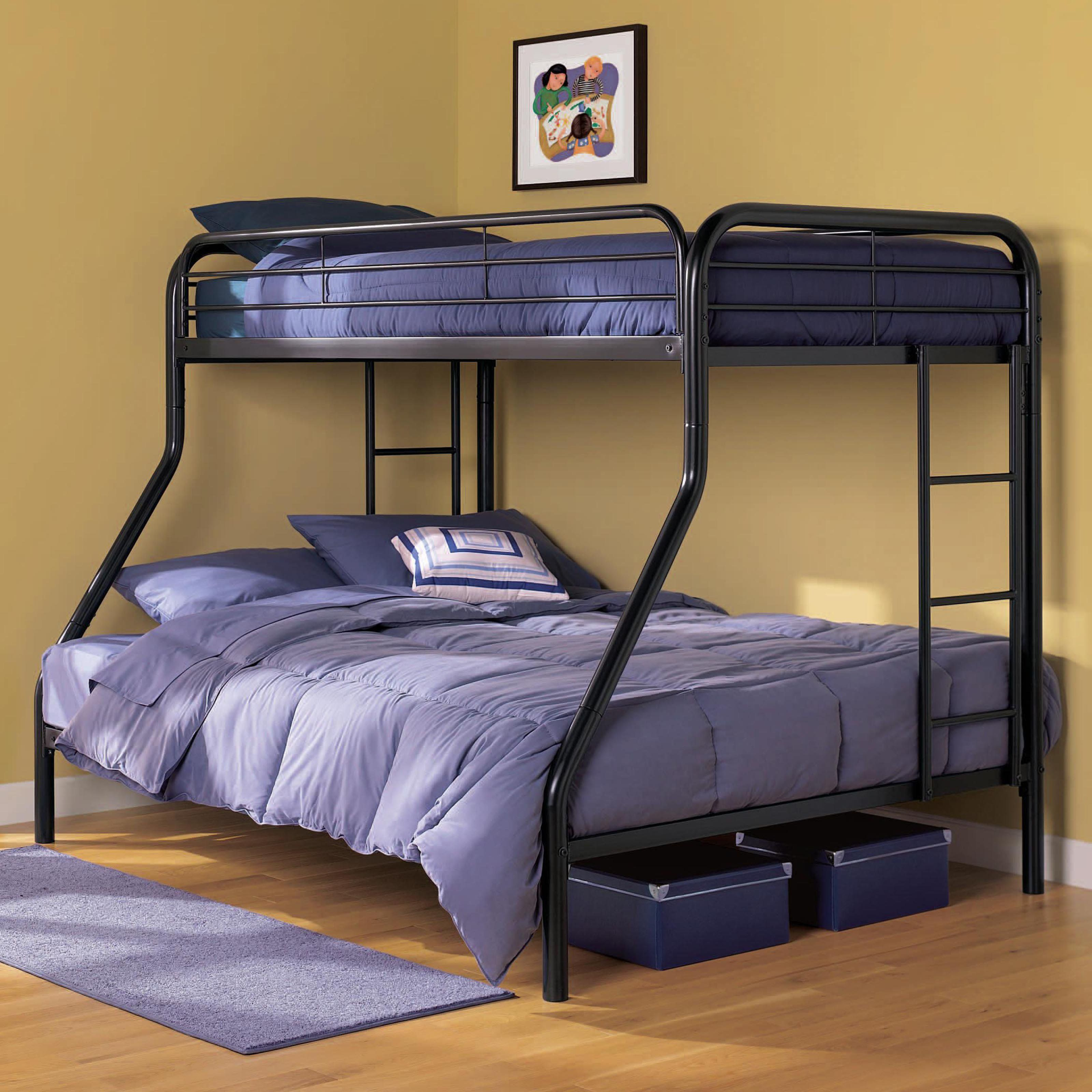 Dhp Ambrose Metal Twin Over Full Bunk Bed Beds Cool