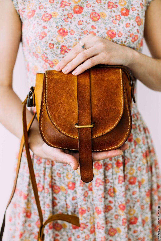 258d029fe5 Leather pumpkin handbag – shop online on Livemaster with shipping ...