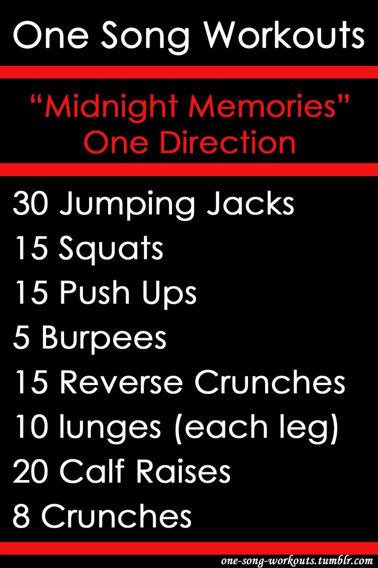 One song workout 'Midnight Memories'-One Direction!