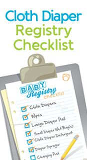 Cloth Diaper Baby Registry Checklist  Cloth Diapering Tips