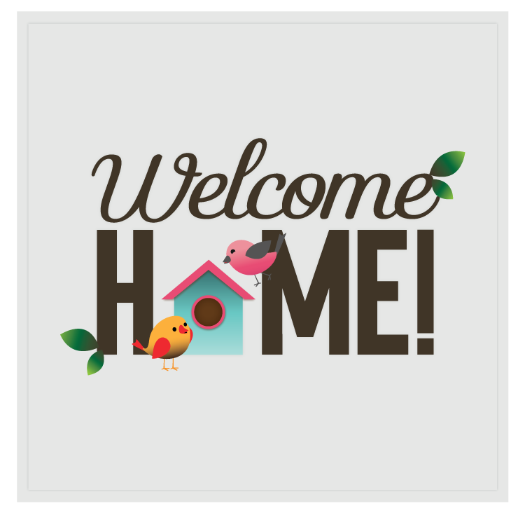 Welcome Home Poster Rumah Seni Dinding Seni Dinding Buatan Sendiri