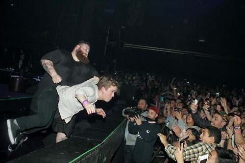 This was the night Bam Bam was in Santa Ana, CA. That midget made his way to the stage TWICE and Bronson did what he thought was right…which was throw him into the crowd.