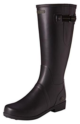 Viking Elvida, Damen Langschaft Gummistiefel, Schwarz (Black/Olive 237), 41 EU