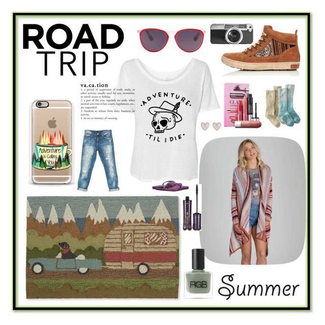 """""""hitting the road"""" by careyjohnson-cj ❤ liked on Polyvore featuring INKKAS, Billabong, Clinique, L.L.Bean, RGB Cosmetics, Casetify, tarte, Sans Souci, The North Face and New Look"""