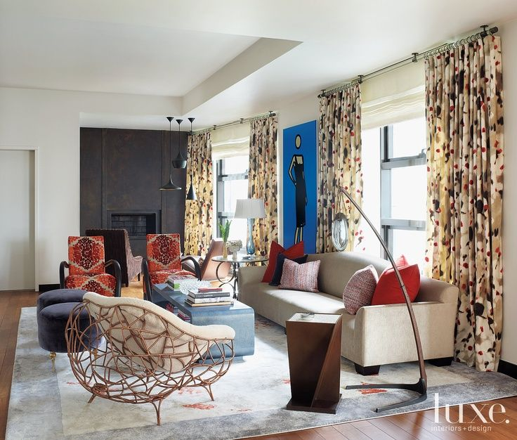 Luxe Magazine On Interior Design Eclectic Living Room Interior