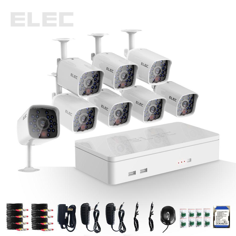 ELEC® 8CH HDMI 960H Outdoor Home 700TVL CCTV DVR Security Camera ...