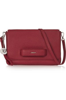 DKNY Textured-leather shoulder bag | THE OUTNET