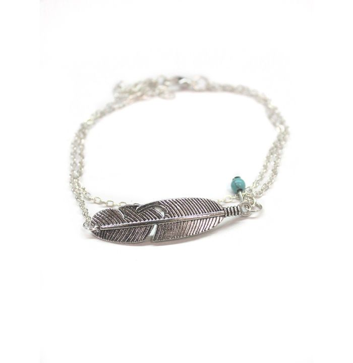 feather qrsw anklet il silver sterling