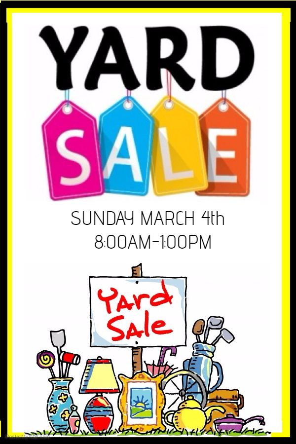 Yard Sale Poster Flyer Social Media Post Template  Garage Sale