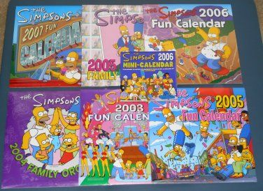 The Simpsons Calendar Family Organizer Lot Homer Bart Maggie