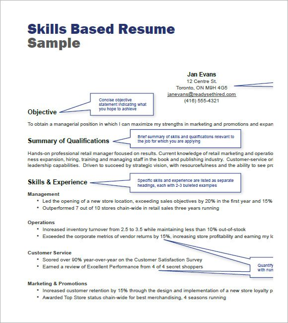 resume templets free samples examples format sample resumes cover - retail skills for resume