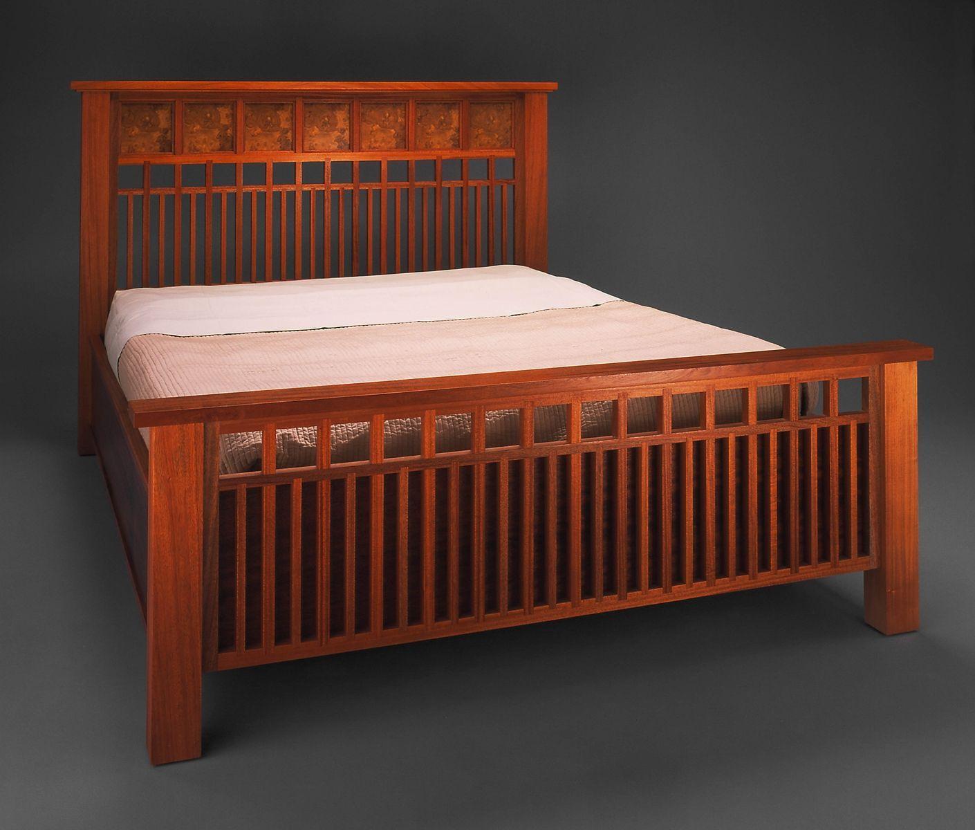 Custom Made Caroline's Bed Mission style furniture, Bed