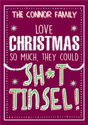 Funny Family Christmas Card They Could Sh*t Tinsel! #sponse #Ad , #Ad, #Christmas, #Family, #Funny, #Tinsel
