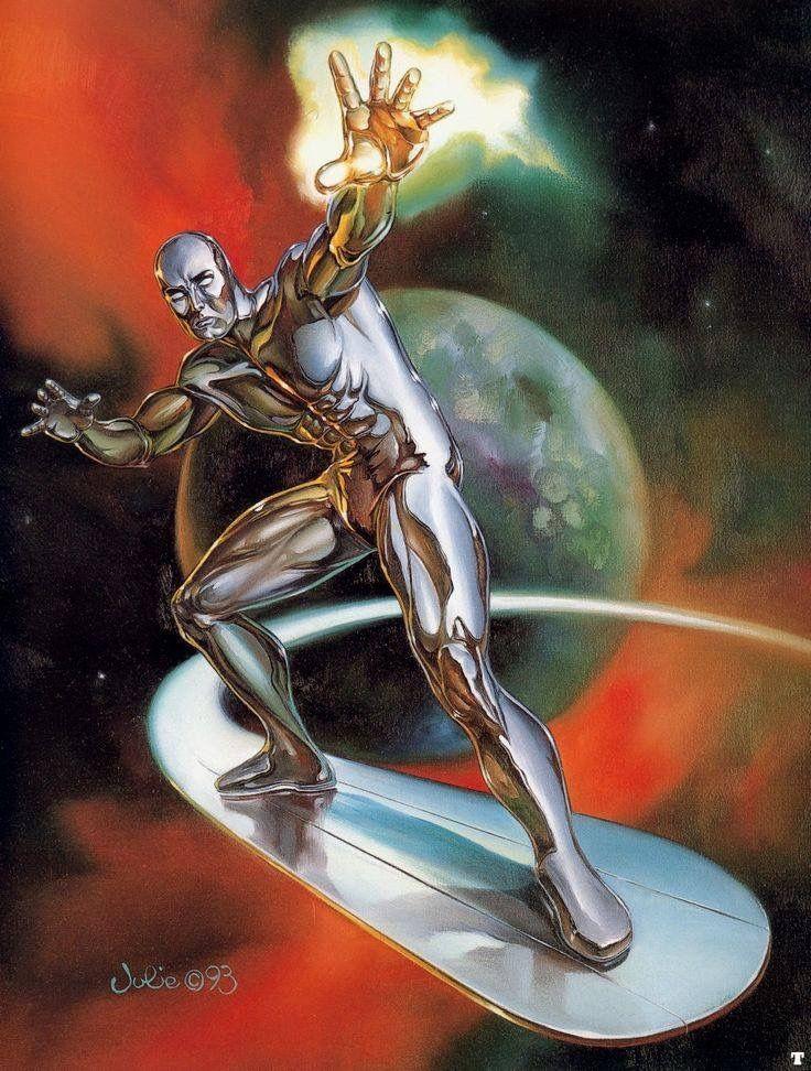 Silver Surfer by Julie Bell #JulieBell #SilverSurfer #NorrinRadd #TheDefenders #GalactusHerald