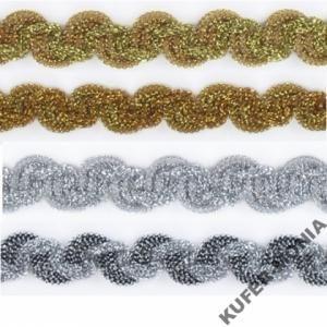 Taśma Ozdobna Metalizowana Perła 15 Pasmanteria Tkaniny