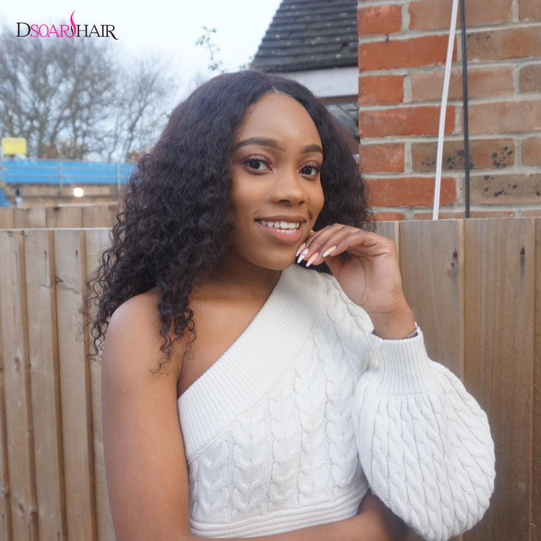 Dsoar hair 3 bundles brazilian jerry curly hair weave with