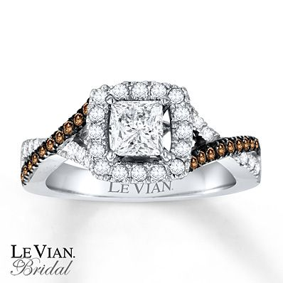 Levian Engagement Ring. OH MY GOODNESS!! Chocolate Diamonds® 1 1/8 ct tw Ring 14K Vanilla Gold™