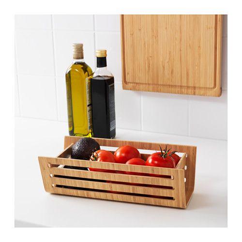 Rimforsa Basket Bamboo Living Pretty Ikea Kitchen Und Kitchen