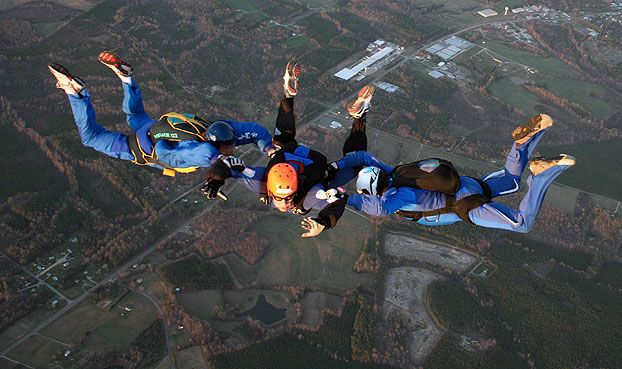 Aff Skydiving Classes In Virginia Skydiving Paragliding Skydiving License