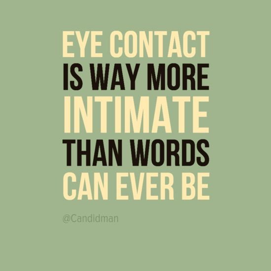 Eye contact in relationships
