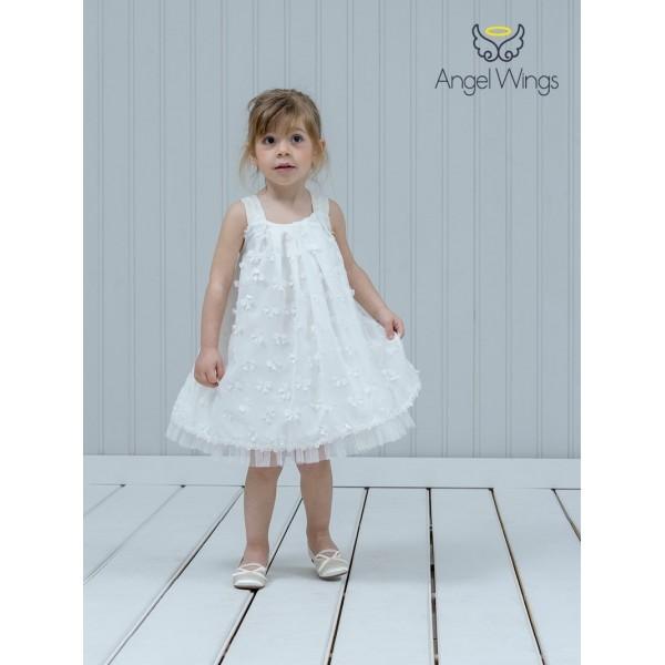Angel Wings βαπτιστικά ρούχα κορίτσι φορέματα μπολερό