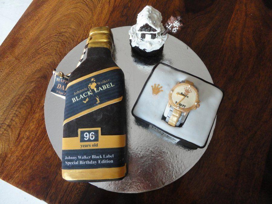 Johnny Walker Rolex Watch Cake By Tinascottparashar Cakesdecor Com Decorating