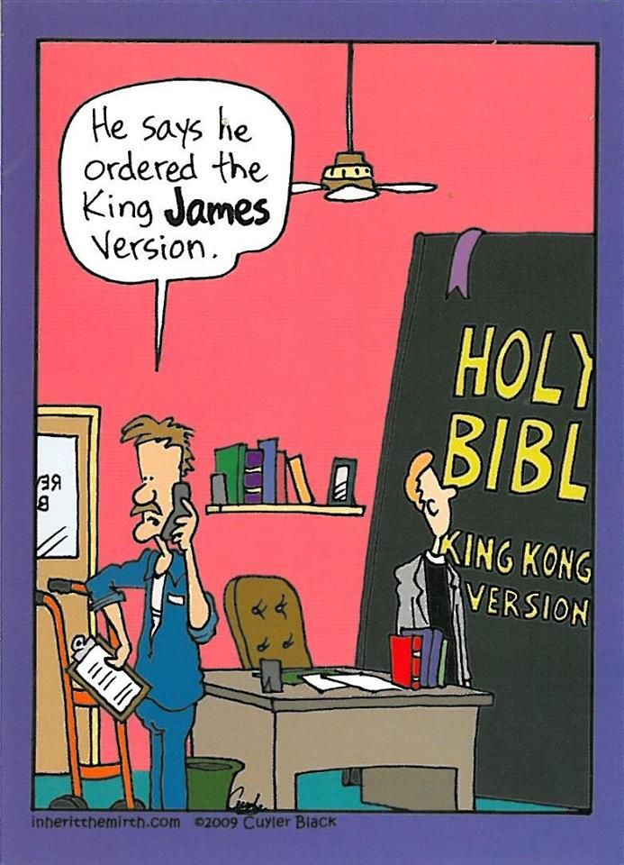 King James Version Christian cartoons, Bible humor