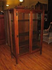 Stickley Brothers Mission Oak 2 Door China Cabinet 8250 Quaint Furniture