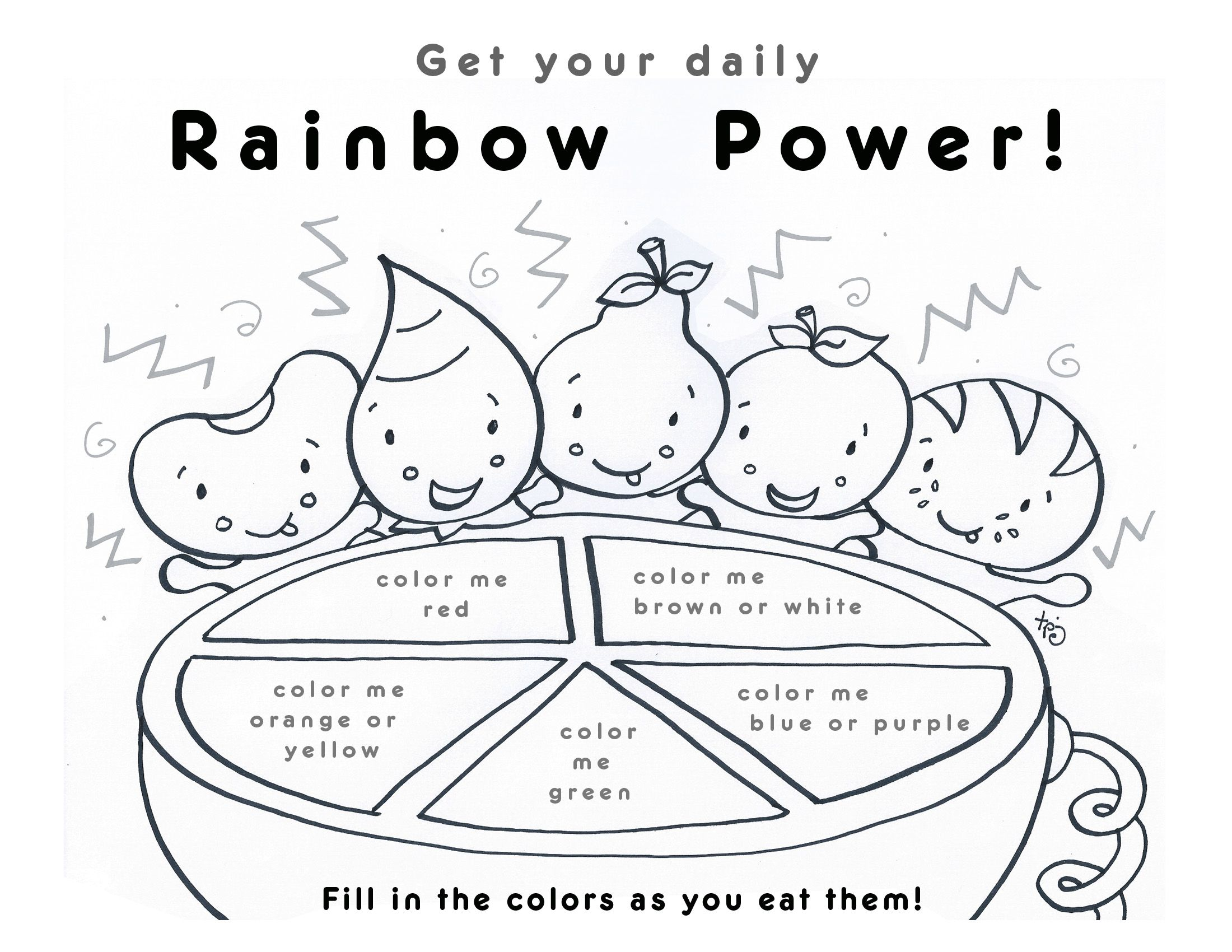 Yummi App Yum Yum Kids Coloring Pages Food Coloring Pages Healthy