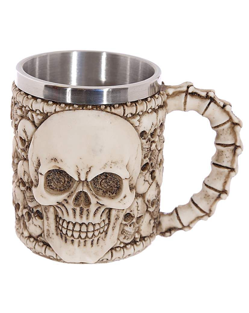 "New Design Steampunk Skull Mug Coffee Stein Cup Tankard 4/""H Skeleton Halloween"