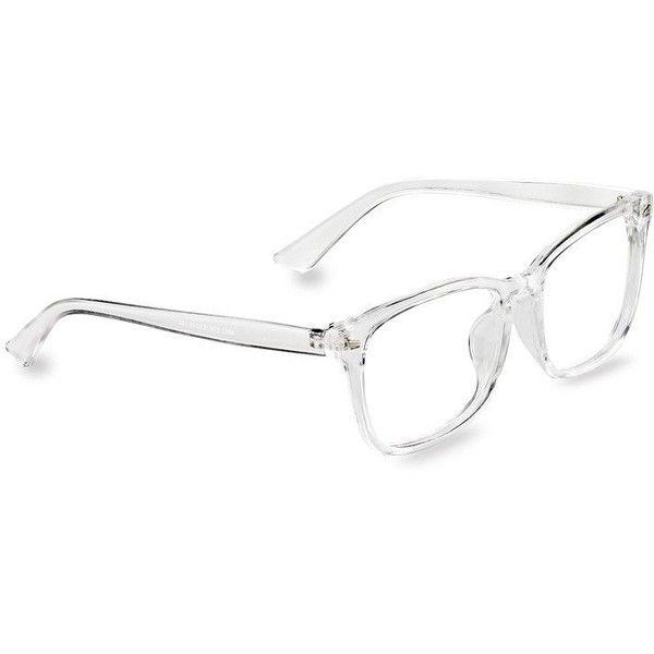 Amazon.com: TIJN Men\'s Transparent Glasses Frame Wayfarer Chic Clear ...