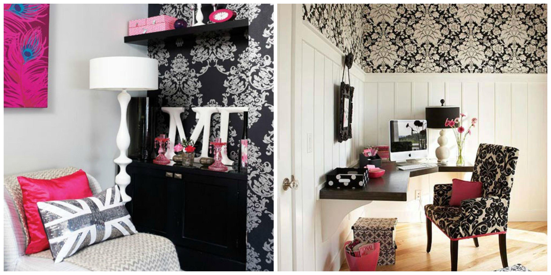 Negro y rosa dos tonos que combinan a la perfecci n y que - Habitaciones juveniles femeninas ...