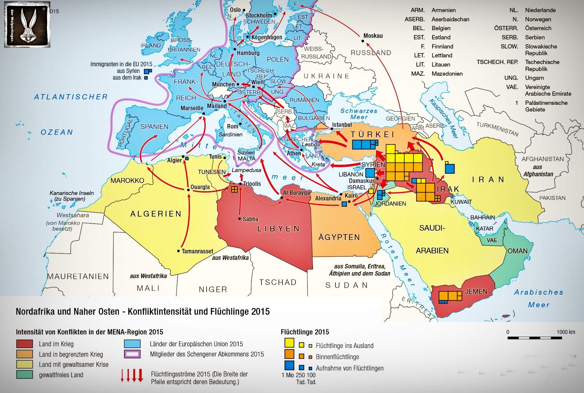 Nordafrika Fluchtlingsrouten Serbien Estland Finnland