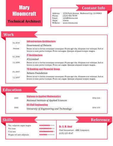What A Doll Resume Template  Cv Formato