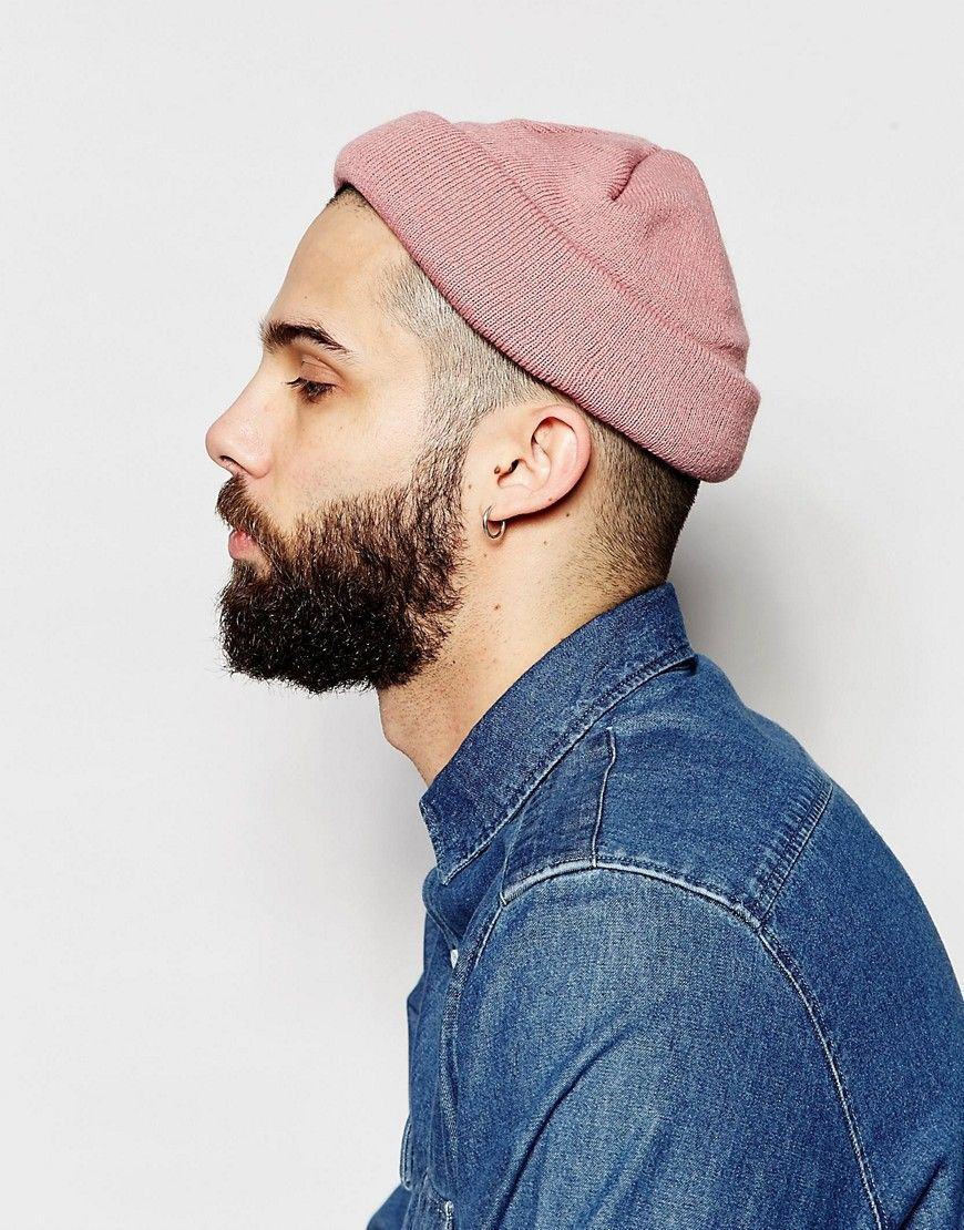 5101e4ec1fa24 Image 3 of ASOS Mini Fisherman Beanie In Pink