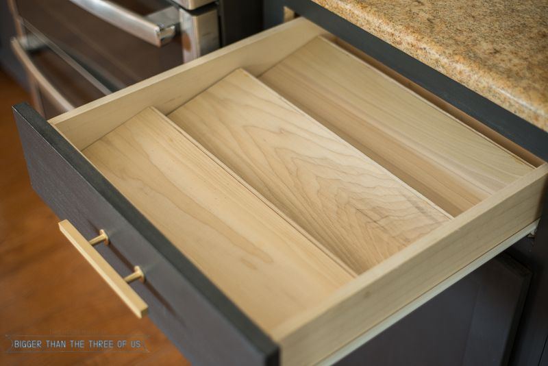 Get organized with this diy spice drawer organizer spice drawer get organized with this diy spice drawer organizer bigger than the three of us workwithnaturefo