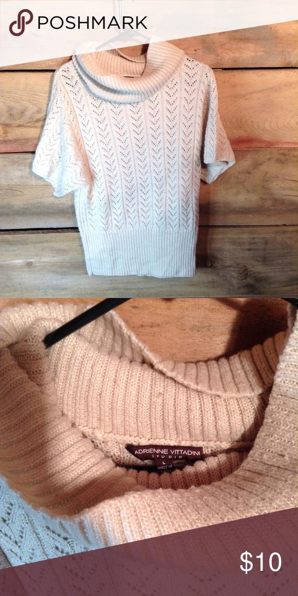 ae55bb8cb7c Adrienne Vittadini Turtle Neck Sweater Size L Adrienne Vittadini- Short  sleeve turtleneck sweater size