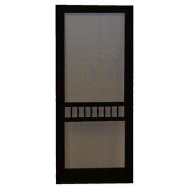 155 00 Screen Tight Arbor Black Wood Screen Door Common 80 In X 30 In Actual 80 In X 30 In Black Screen Door Screen Door Wooden Screen Door
