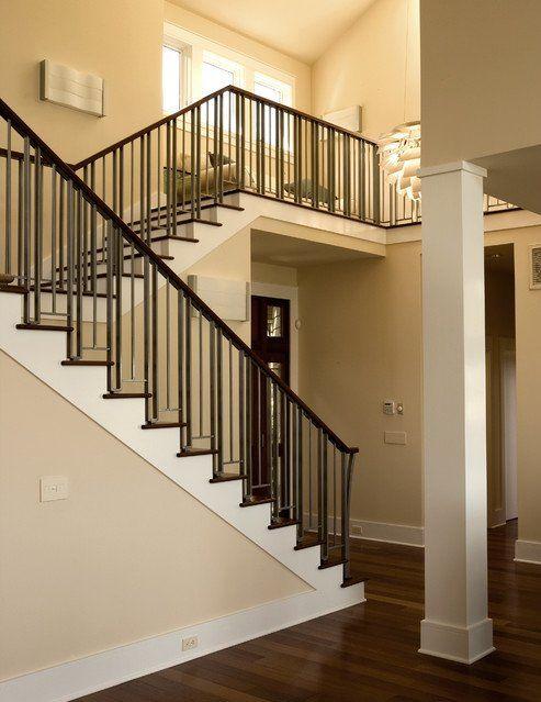 Wood Banister Beam Railing Stairs Column Metal Spindle