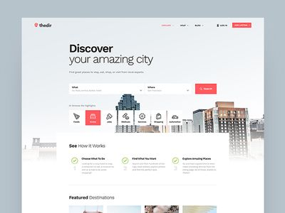 Thedir - Directory & Listing Website Concept | Web | Directory