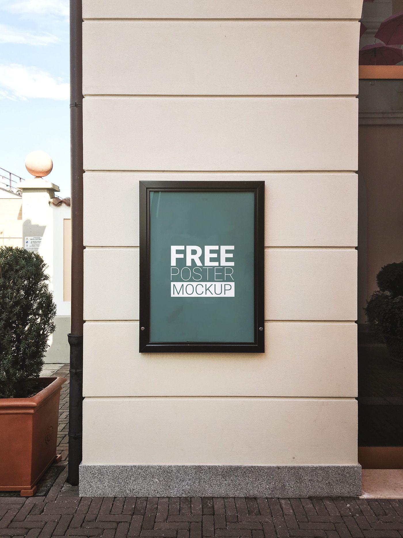 Poster design mockup - Free Poster Mock Up On Behance