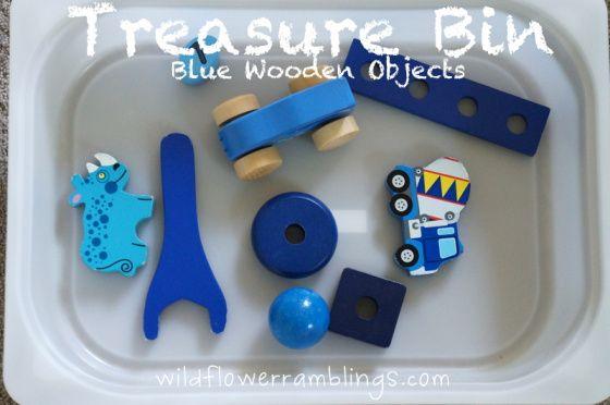 DIY Colour and Texture Treasure Bins