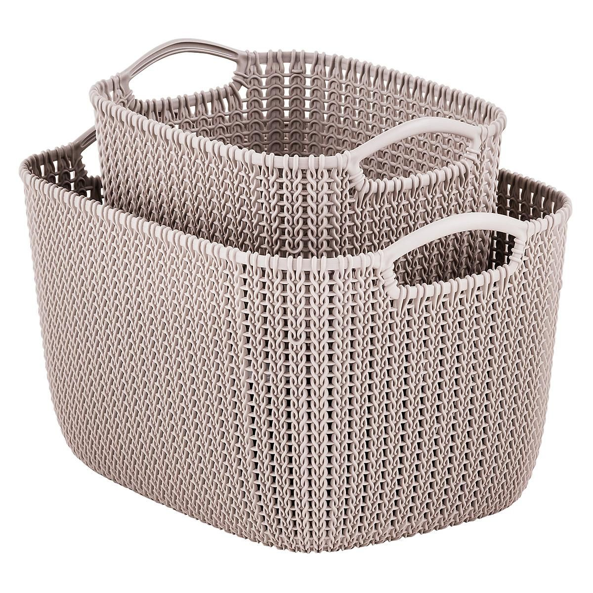 Curver Sand Knit Storage Baskets The Container Store Storage Baskets Toy Storage Baskets Knit Basket