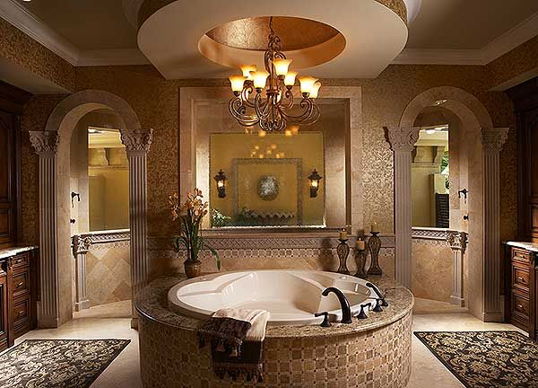 Plan 31803DN: Best in Cl in Two Versions | Dream Home in ... on spanish style bathroom, spanish revival bathroom master, mexican tile bathroom designs,