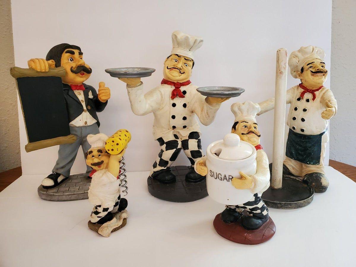 Italian Chef Kitchen Decor Statues On Mercari Italian Chefs Kitchen Chef Kitchen Decor Chef Decorations