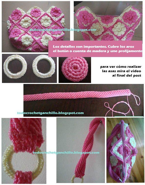bolsas tejidas a ganchillo paso a paso tutoriales todo crochet