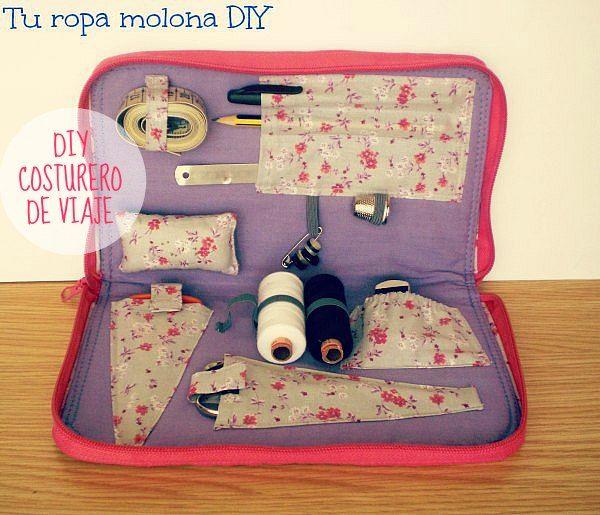 Set de costura ideal para viajes bolso casa hogar