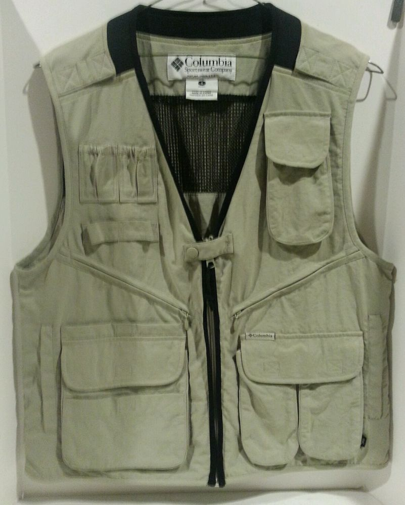 04d48c026f80ee Columbia Outdoor Sport Hunting Fishing Hiking Photography Vest Mens Unisex  Small…