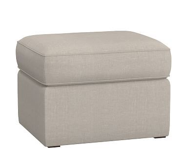 Comfort Upholstered Ottoman, Washed Grainsack Flax | *Furniture U003e Nursery  Chairs U0026 Ottomans* | Pinterest | Upholstered Ottoman, Ottomans And Products